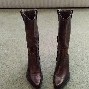 BCB Girls Bronze metallic cowgirl boots